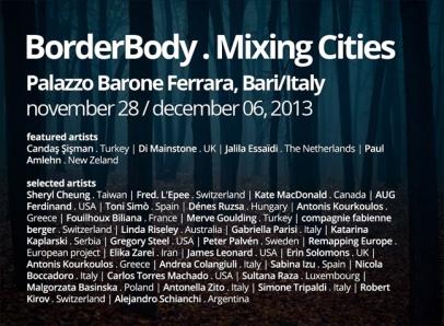 BorderBody - Mixing Cities/ Palazzo Barone Ferrara in Bari (Italy)